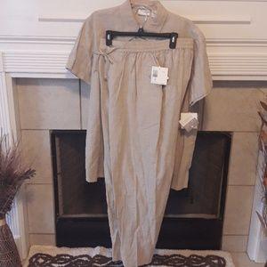 Elisabeth By Liz Claiborne Tan Linen Pants Suit 16
